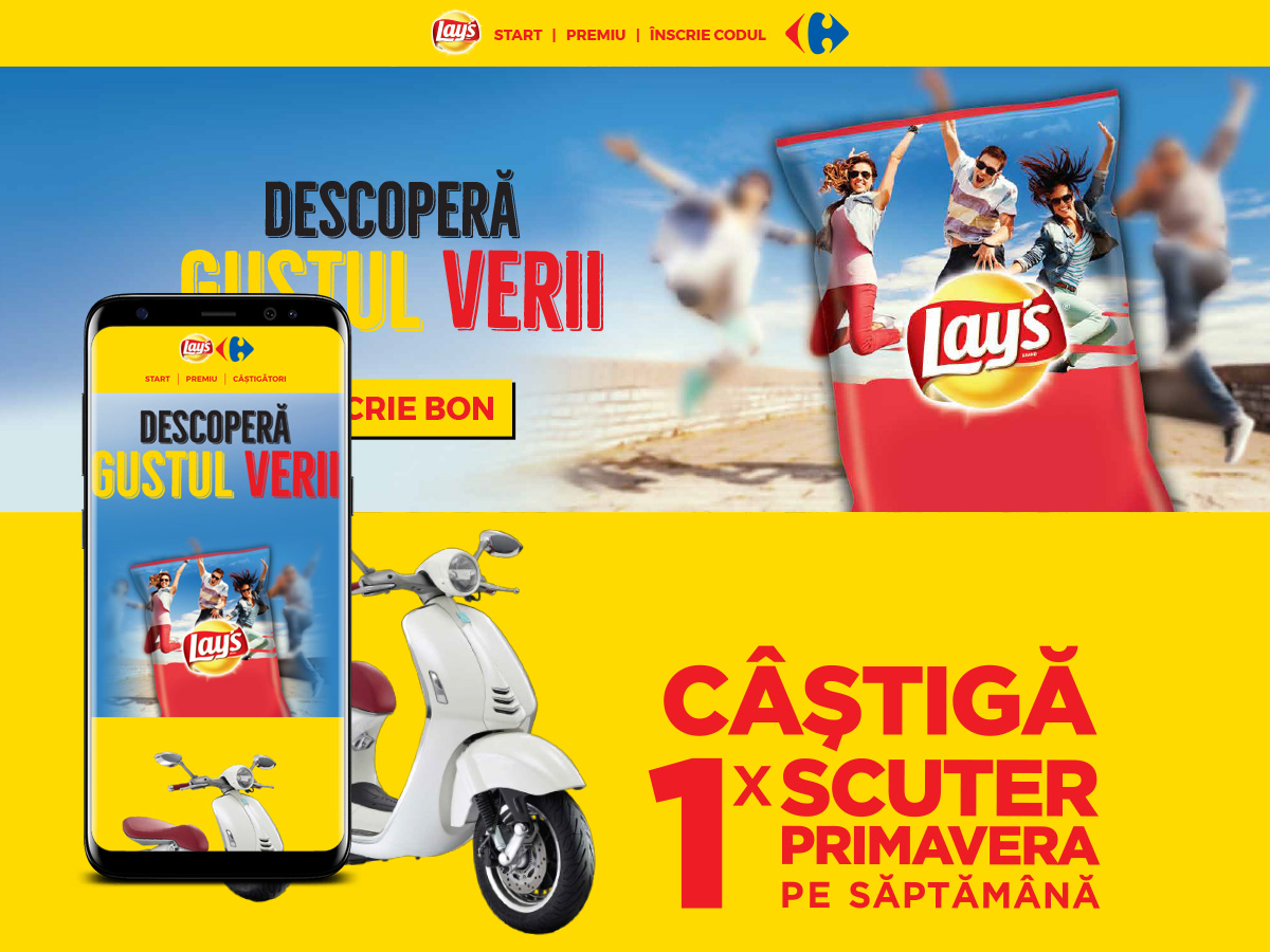 digital agency - woopy media -descopera-gustul-verii-lays-carrefour